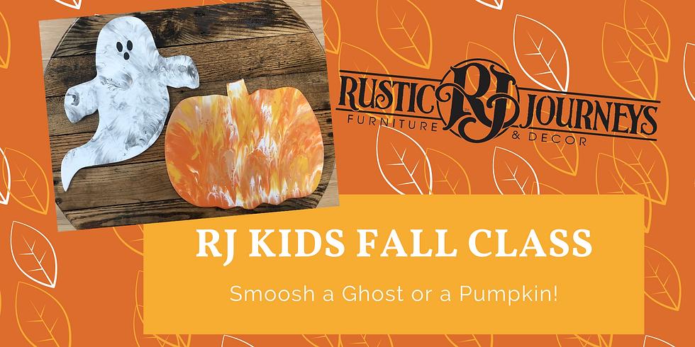 Kids Class  - Ghost or Pumpkin Smoosh Oct. 8
