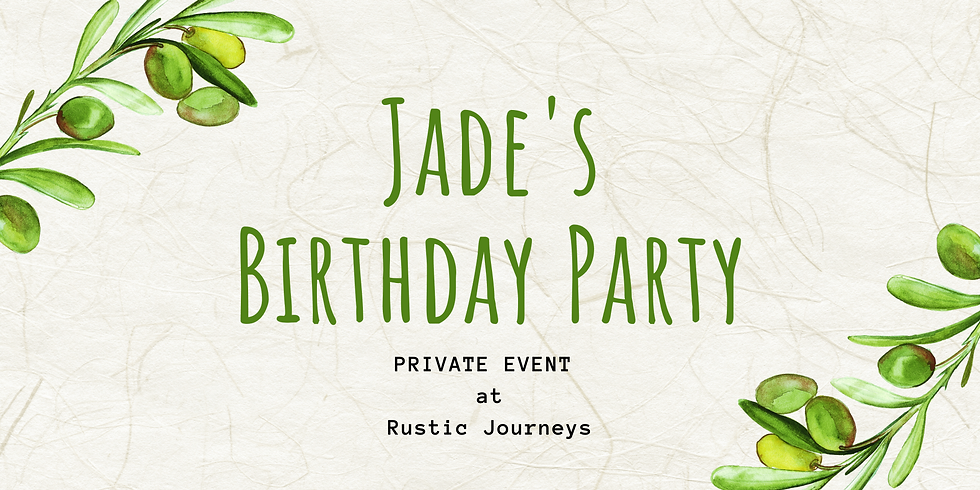It's Jade's Birthday Party - Private Event