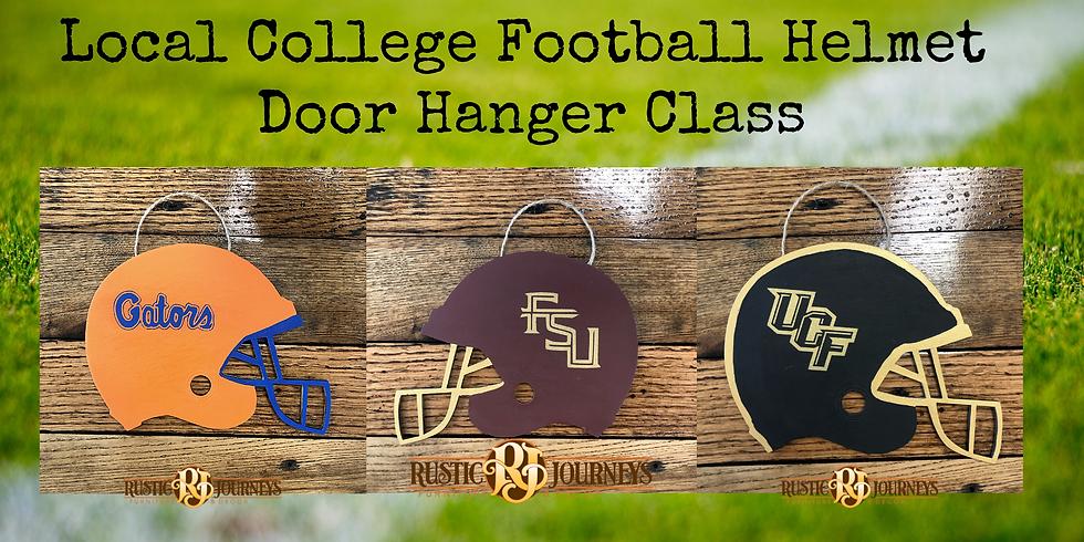 Football Helmet Door Hanger 9/26