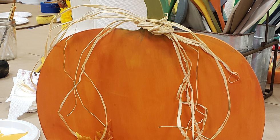 Tabletop Pumpkin Wood Cutouts Sept 21 - 1PM