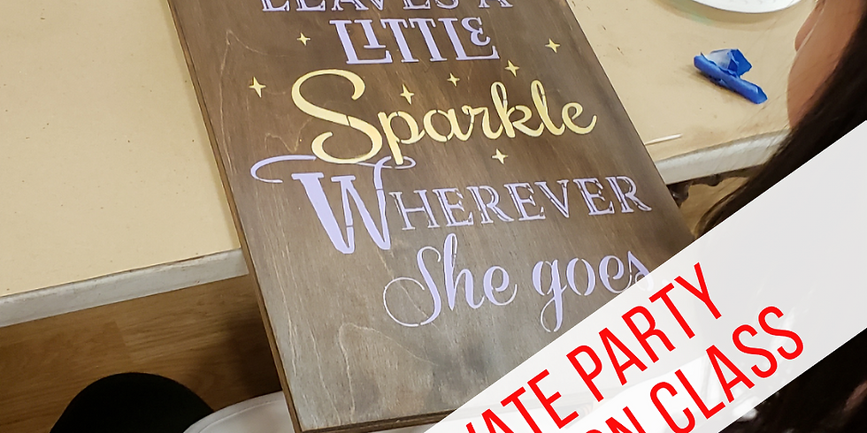 PRIVATE Kim B. Birthday Party - Wood Signs- March 23