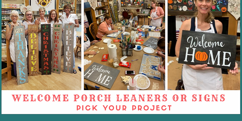 Porch Leaner or Home Interchangeable Sign 10/9