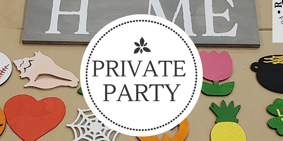 """The """"Oviedo Chick's""""  PRIVATE Welcome Home Interchangeable Seasons Sign Party"""