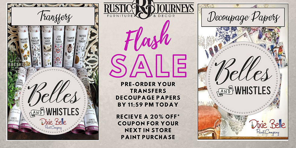 FLASH - Pre-Order Dixie Belle Transfers & Decoupage Papers