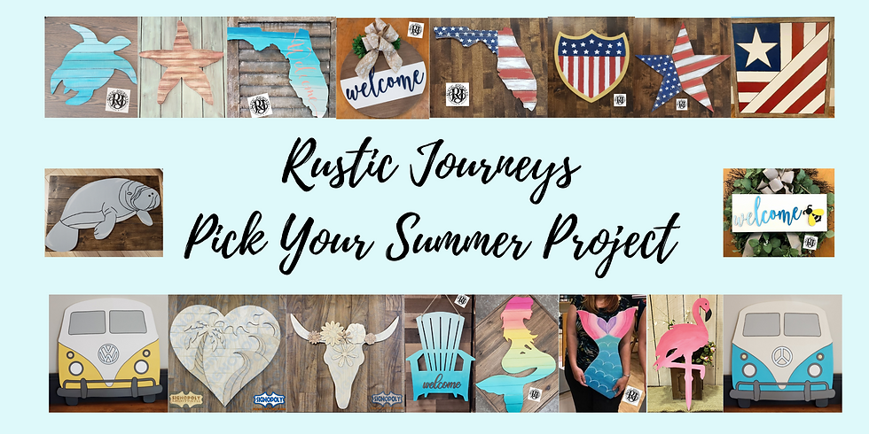 Summer Pick Your Project Class