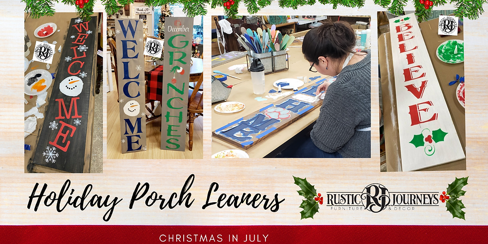 Holiday Porch Leaner Signs