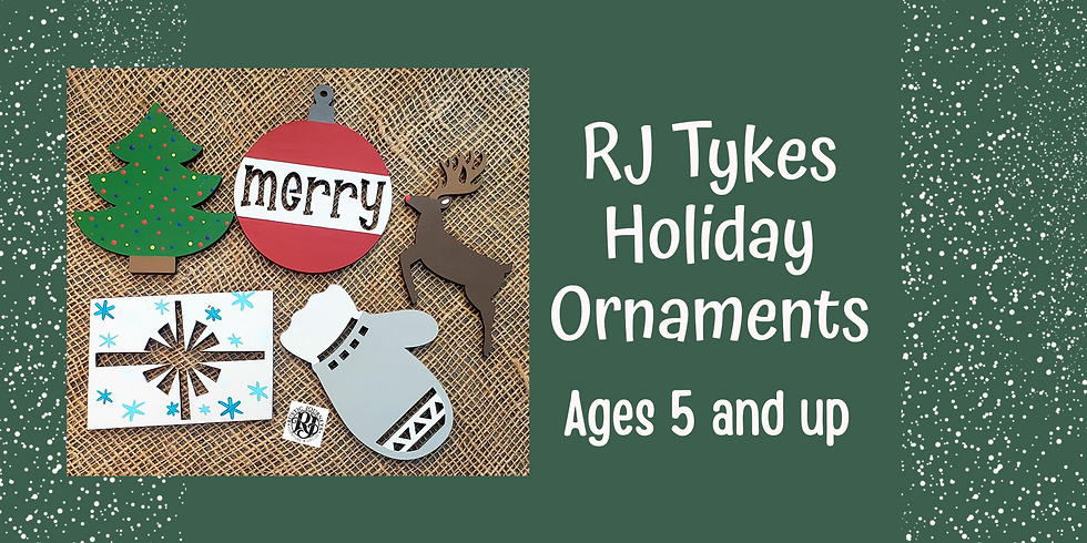 RJ Tykes - Holiday Ornament Painting