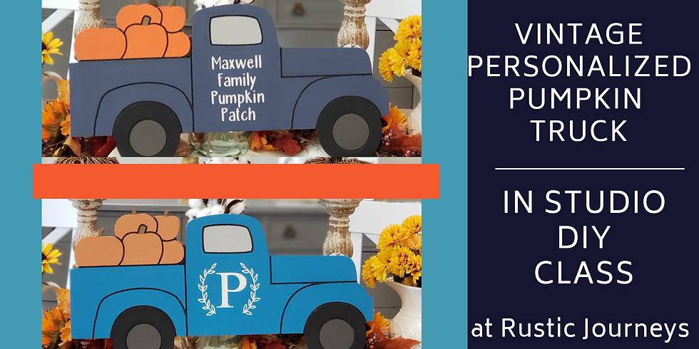 Vintage Fall Pumpkin Trucks