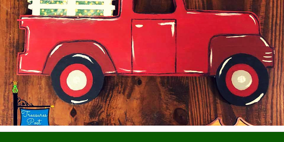 Painting a Holiday Vintage Truck Cut Out 12/10