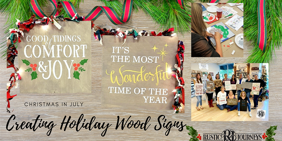 Holiday Wooden Sign Class