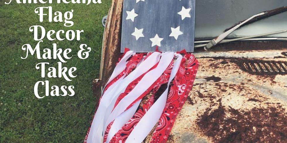 Rustic Americana Flag Make & Take Class June 27