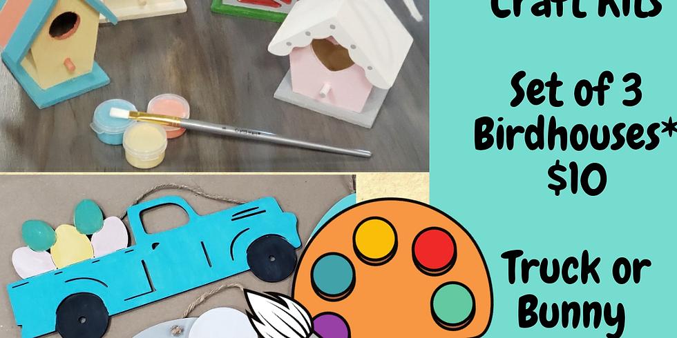RJ Kids Club -  Take Home Spring Craft Kits