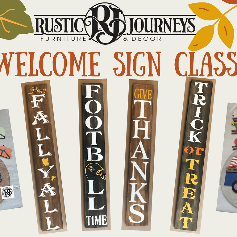 Welcome Sign Class Oct.17