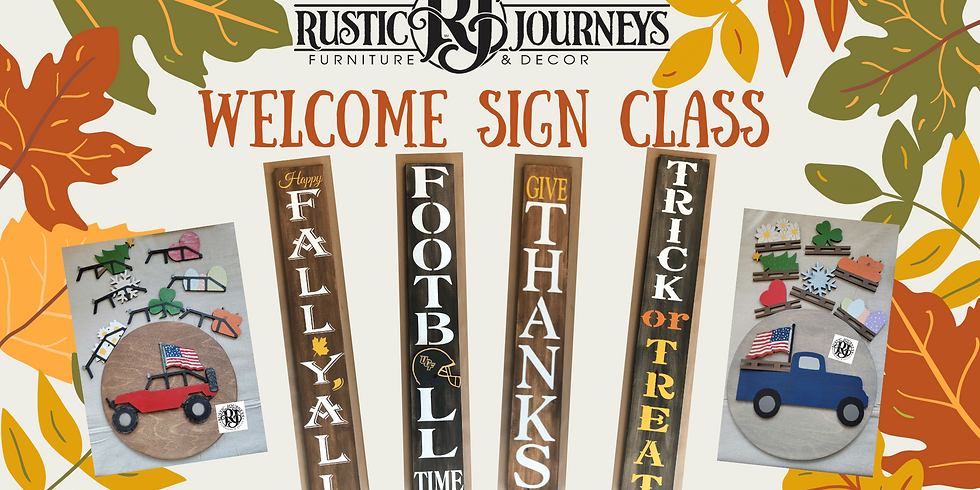 Welcome Sign Class November 14