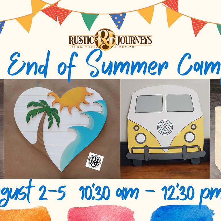 End of Summer Bash Workshop- Aug 2-5