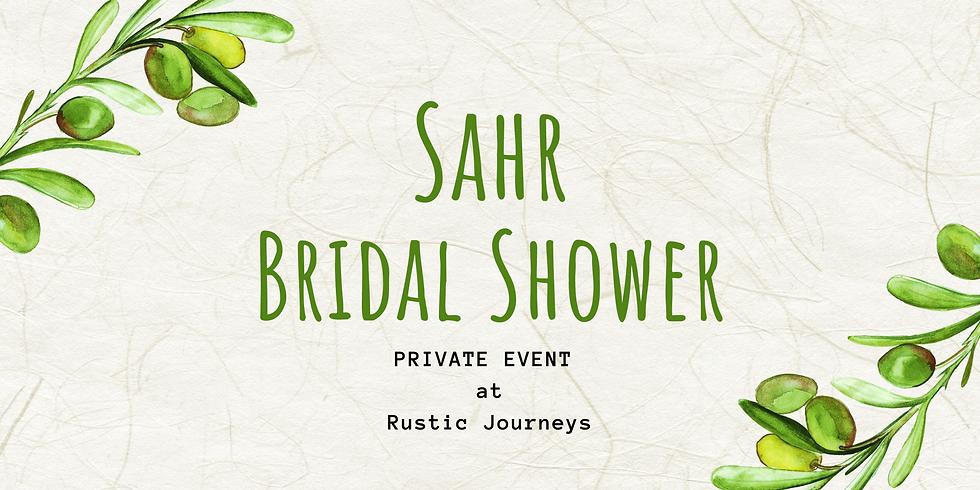 Sahr Bridal Shower - Private Event