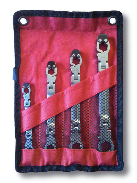 Linewrench 4 pc metric set 8-15mm pouch.