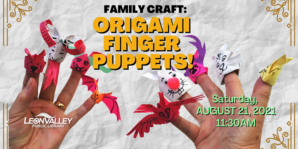 Family Craft: Origami Finger Puppets