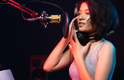 Asian Teenager Woman black hair earmuff