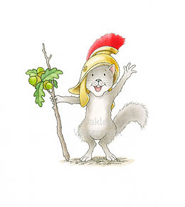 Squirrel character Castle Park Colour -