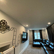 Movie Reel mural for a residential
