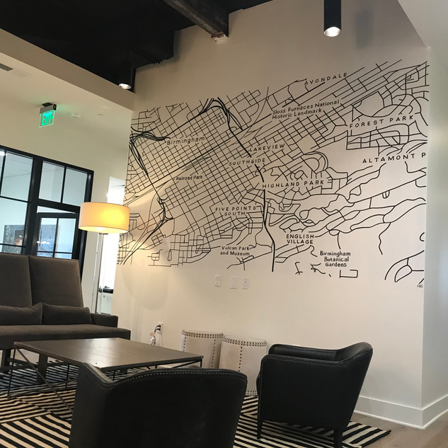 Partnered with Hatcher & Schuster Design firm for this magnetic mural for H2 Real Estate