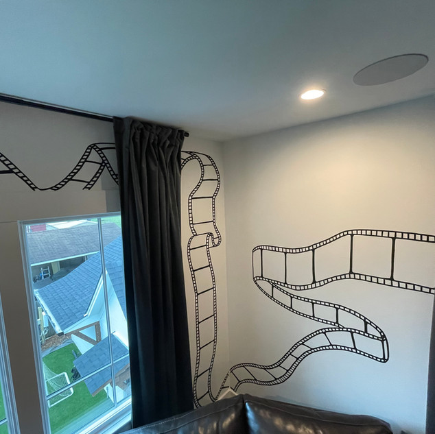 Movie Reel mural