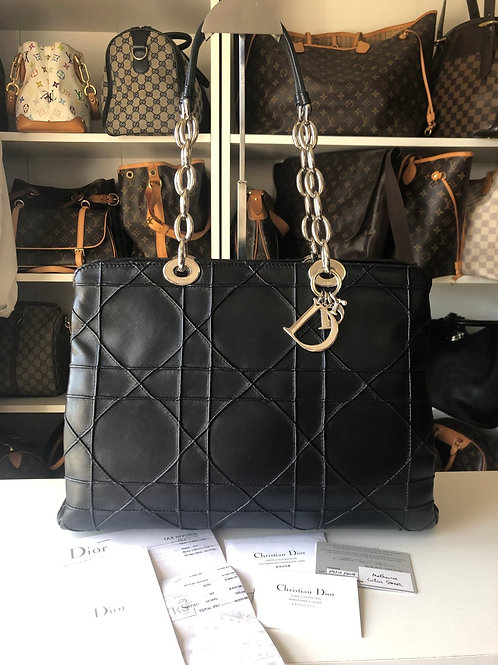 Christian Dior Quited Leather Shopping Tote