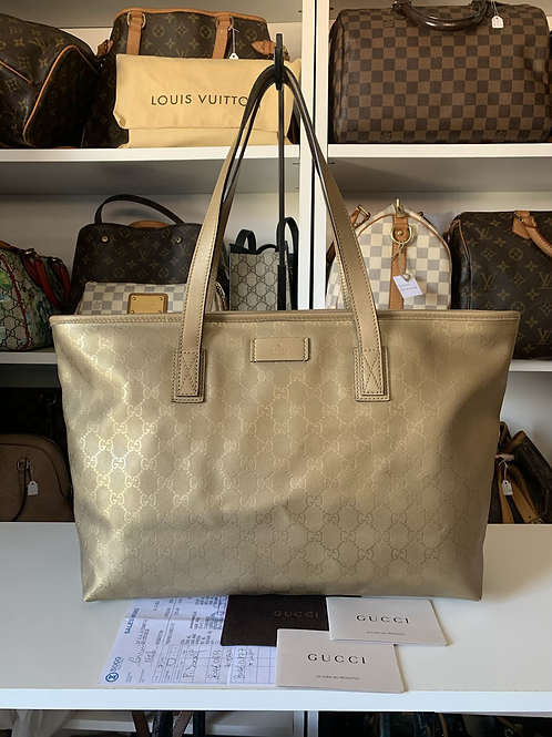 Gucci GG Imprime Coated Canvas Tote Bag
