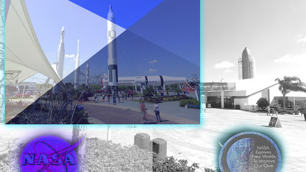 The images shown here are views from a project we recently did for NASA. Shown here are the various rockets at the Kennedy Space Center in Florida.  NASA wanted the existing conditions of the aeronautics center in preparation of future projects and attractions.