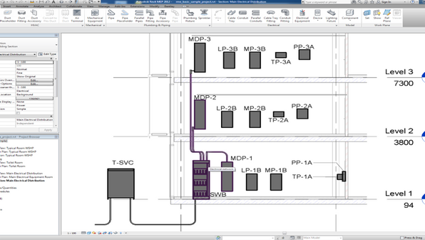 BIM models can be used for different disciplines such as MEP (mechanical, electrical, and plumbing), and HVAC. Shown here is one of the benefits of having a Revit model. Clients can easily access data information of assets throughout their facility. Induvial assets can be embedded into a model and have a log of any previous, ongoing, or future asset activities.