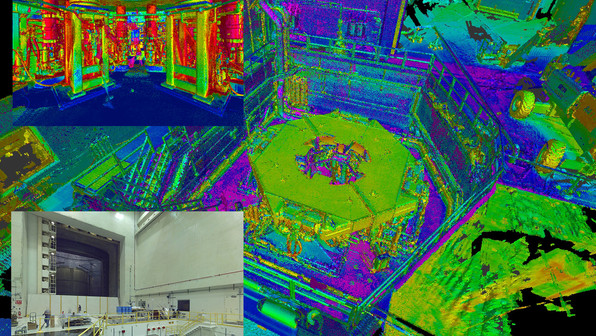 Shown here is point cloud data taken from laser scanning. Our client took the scan data and created an accurate intelligent 3D model. Scan data can easily be transferred into industry software's like AutoCAD, Revit, 3DS Max, Navis Works, and is AR/VR compatible.