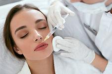 Lip Augmentation. Woman Getting Beauty I