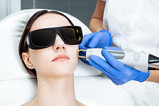 Skin Care. Young Woman Receiving Facial