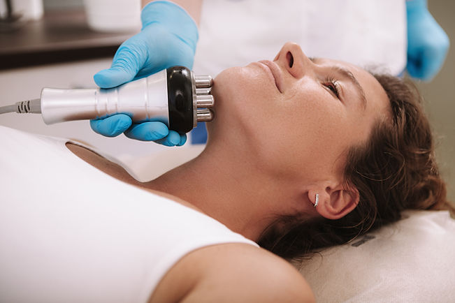 Cropped shot of a woman getting skin tig