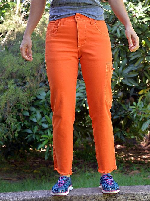 Calça Cliff Cropped - laranja mecânica