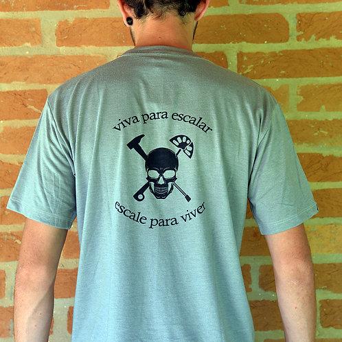 Camiseta Caveira - Cinza