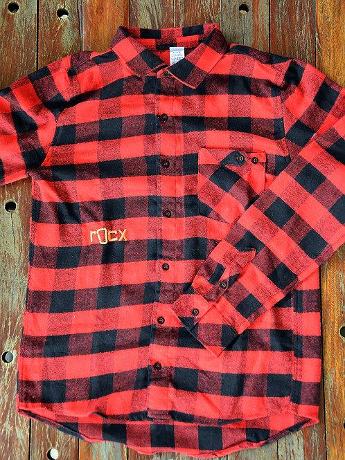 Camisa de Flanela - vermelha e preta