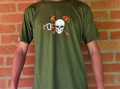 Camiseta Caveira - Verde Militar