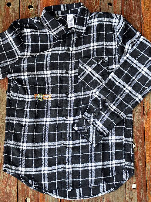 Camisa de Flanela - preta e branca