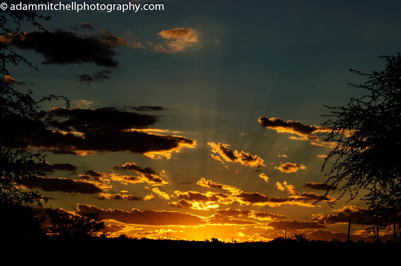 Sunset over Tswalu