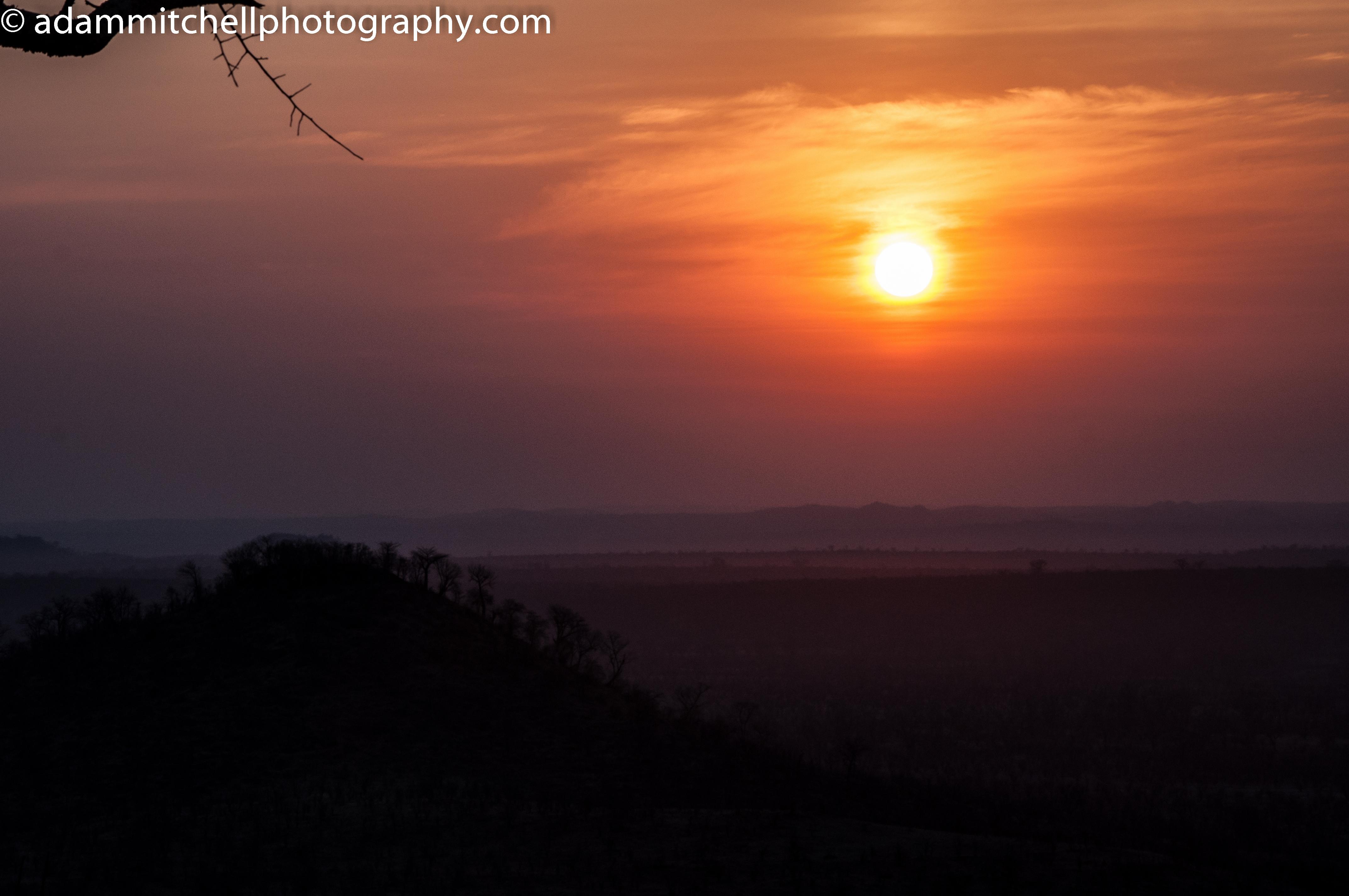 Sunset at Hwange