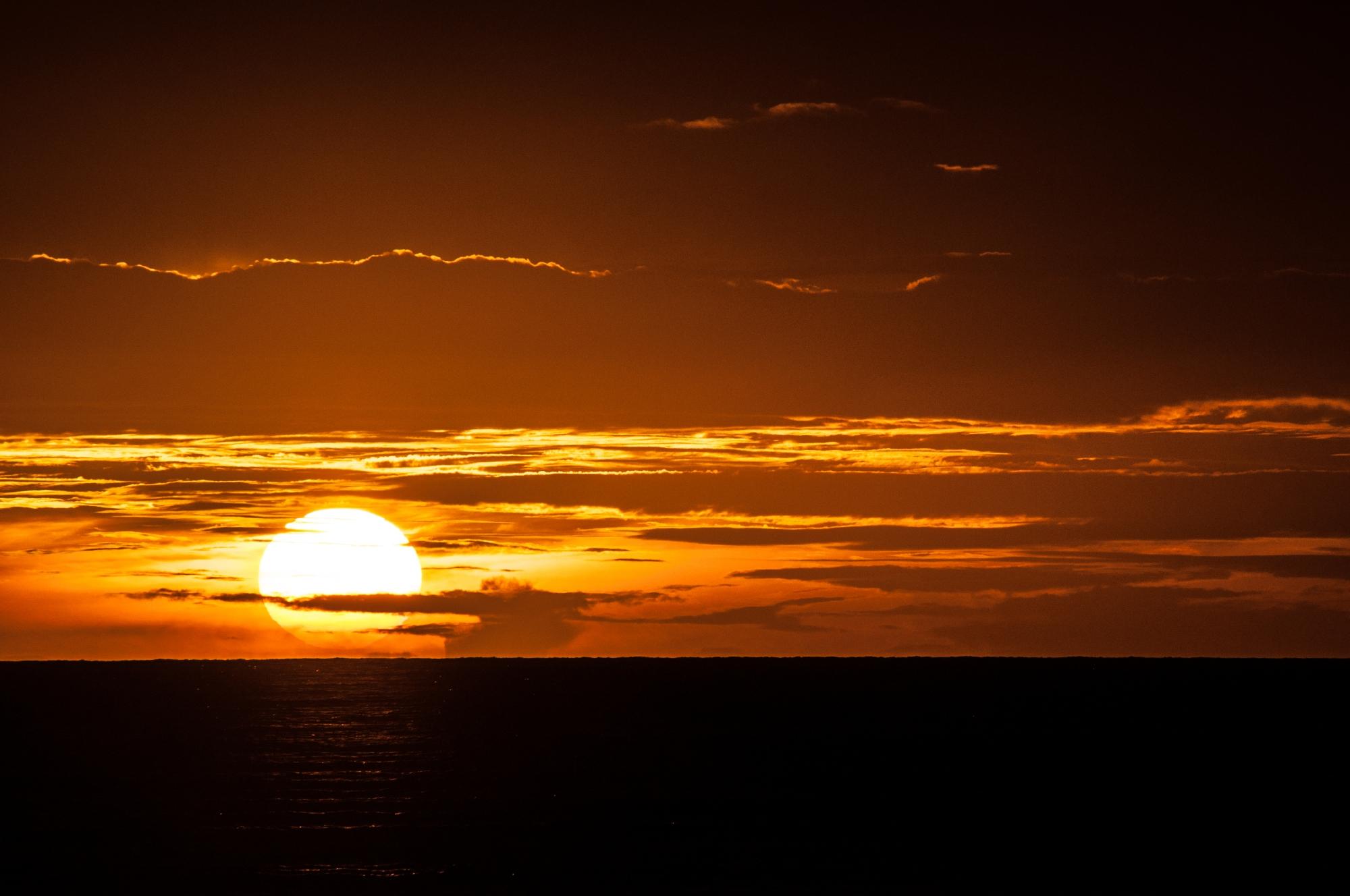 Aldabra sunset