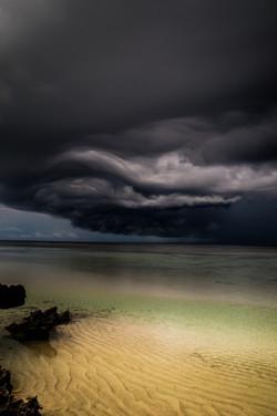 Approaching storm, Aldabra