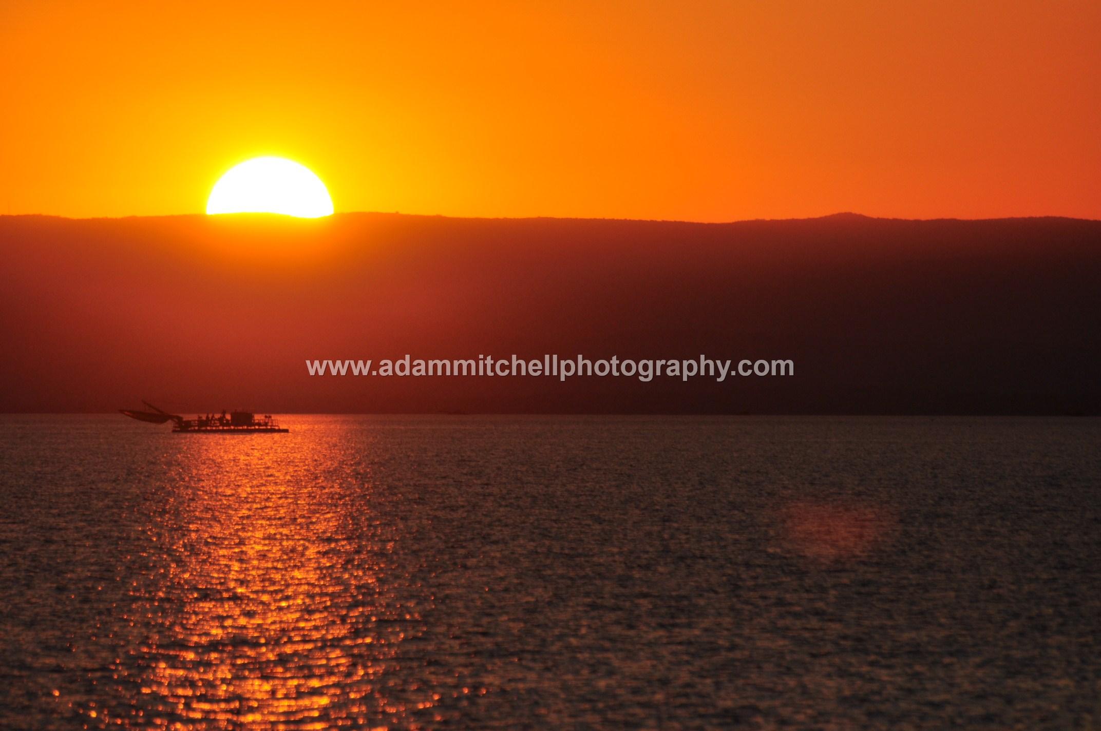 Kapenta boat at sunset