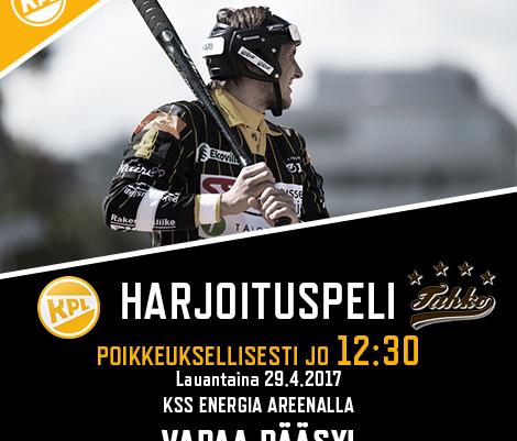Lauantaina KPL vs. Tahko jo klo 12.30 – Seurapäivä Hyypiällä!