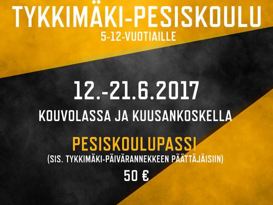 Tykkimäki-Pesiskoulu jatkuu 12.6.