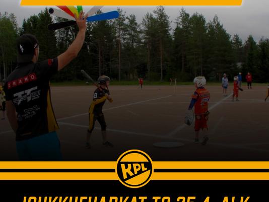 KPL:n ja Puhdin juniorit siirtyvät ulkoharjoituksiin!