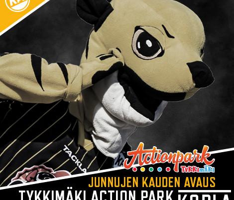 Junioreiden kausi alkaa maanantaina Tykkimäki Actionparkissa