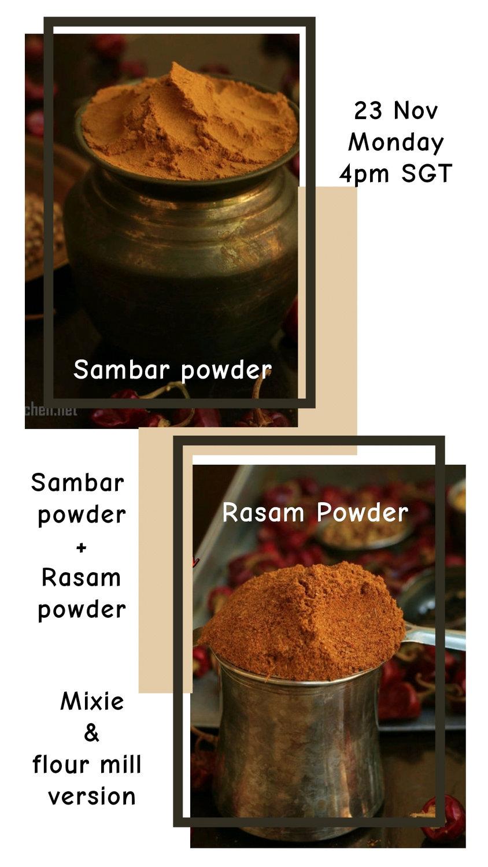 Sambar and Rasam powder May 6